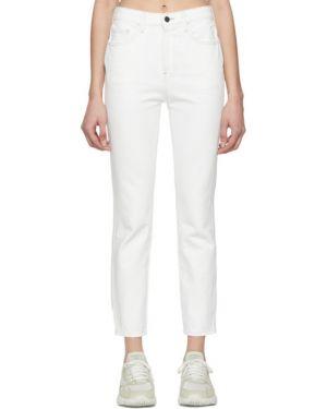 Белые укороченные джинсы стрейч с воротником винтажные Jordache
