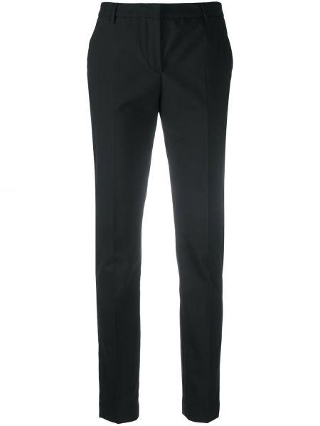Зауженные шерстяные черные брюки дудочки Tonello
