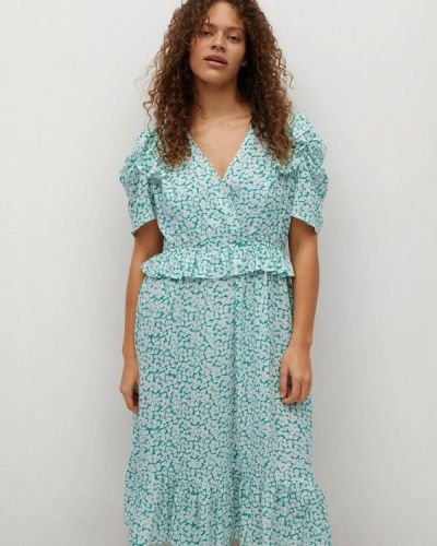 Платье - зеленое Violeta By Mango