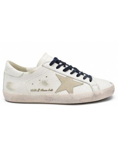 Białe sneakersy skorzane z frędzlami Golden Goose