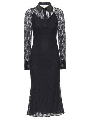 Sukienka midi w kwiaty czarny Christopher Kane