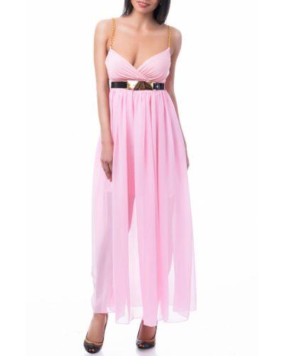 Вечернее платье розовое макси Lacywear