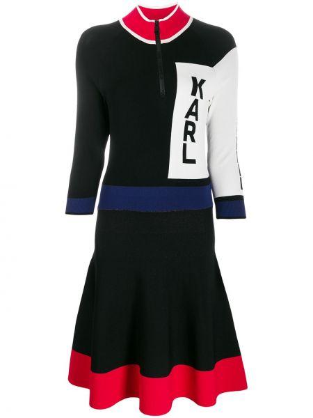 Платье миди на молнии расклешенное Karl Lagerfeld