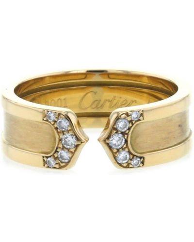 Кольцо с бриллиантом - желтое Cartier