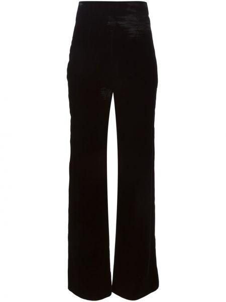 Черные свободные брюки винтажные Emilio Pucci Pre-owned