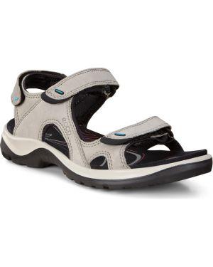 Текстильные бежевые сандалии с подкладкой Ecco