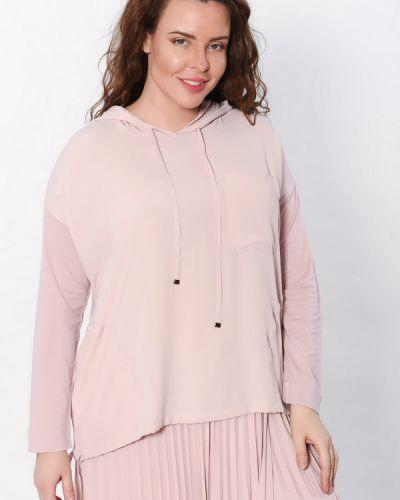 Розовая шелковая блузка Luisa Cerano