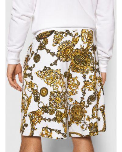 Białe spodenki sportowe Versace Jeans Couture