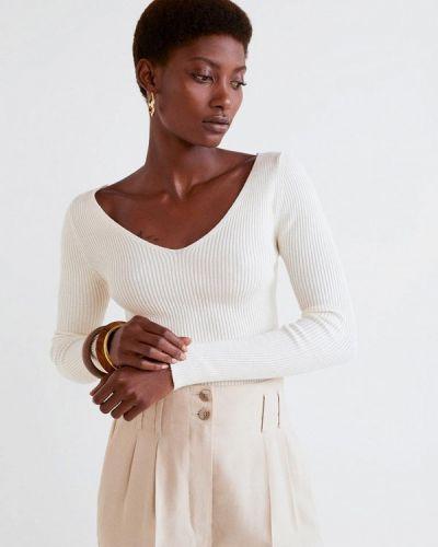 Белый пуловер 2018 Mango