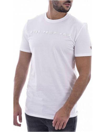Biała koszula jeansowa krótki rękaw bawełniana Guess