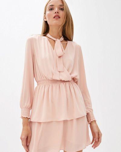 Вечернее платье розовое джинсовое Trussardi Jeans