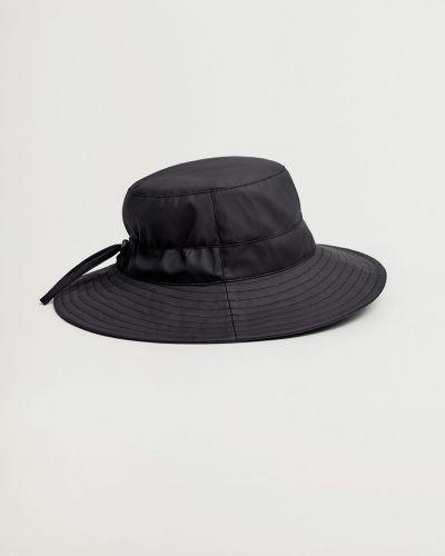 Czarny kapelusz bawełniany Mango