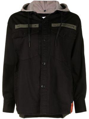 Koszula z kapturem - czarna Izzue