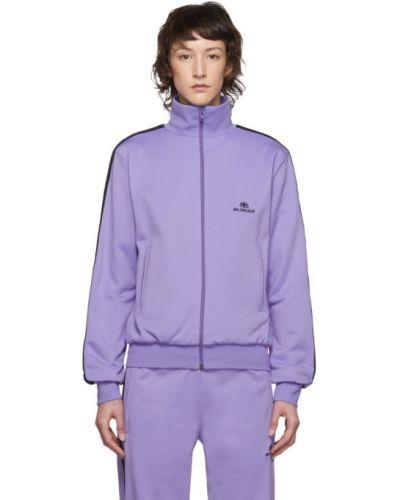 Bawełna długi sweter z długimi rękawami z kieszeniami z mankietami Balenciaga