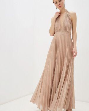 Вечернее платье осеннее розовое Goddiva