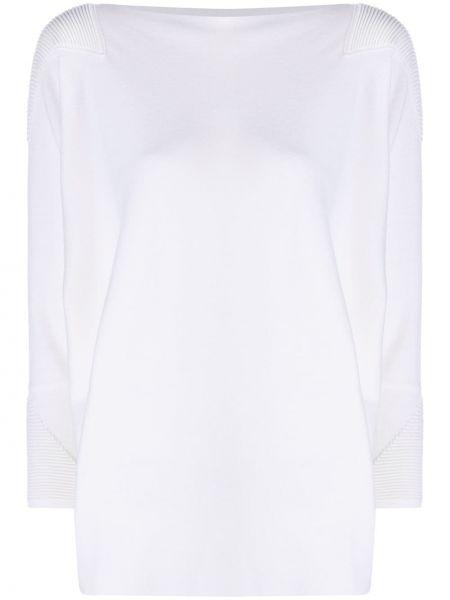С рукавами кашемировый белый длинный свитер Maison Ullens