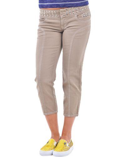Хлопковые брюки - коричневые Moschino Jeans