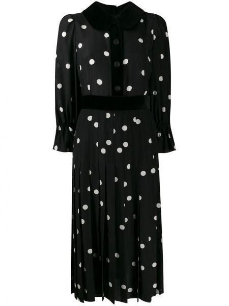 Платье в горошек плиссированное Dolce & Gabbana