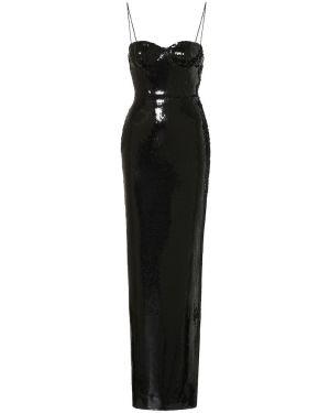 Вечернее платье с пайетками - черное Alex Perry