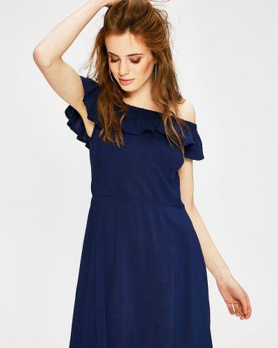 Платье мини в полоску из вискозы Answear