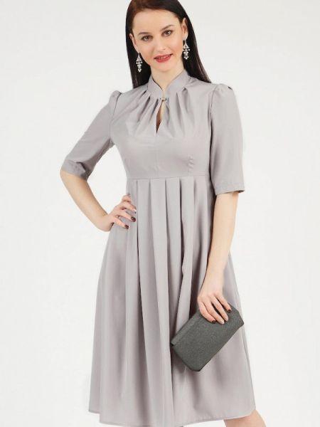 Повседневное платье серое весеннее Grey Cat