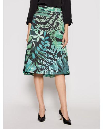 Spódnica trapezowa - zielona Max&co.