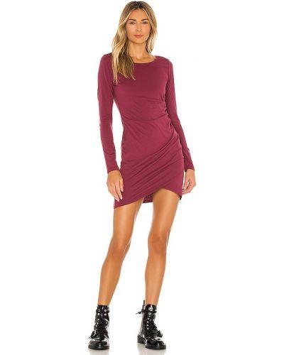 Трикотажное красное платье с оборками Bobi