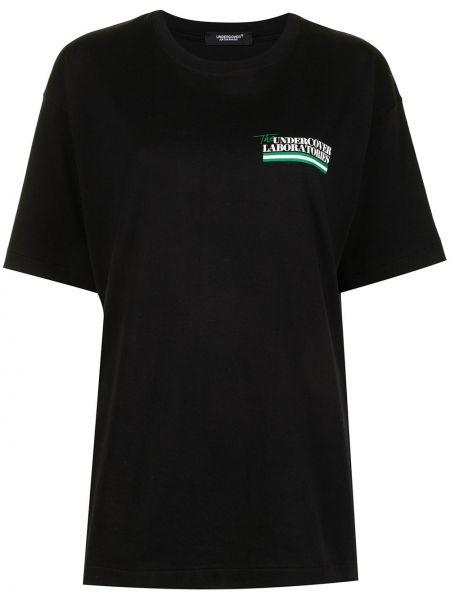 Хлопковая черная футболка с надписью Undercover