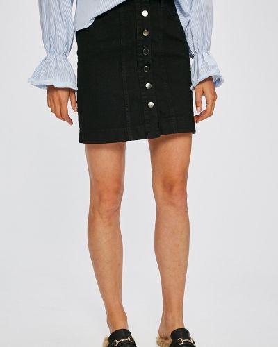 Джинсовая юбка на пуговицах с завышенной талией Trendyol
