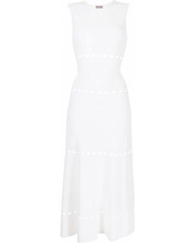 Biała sukienka midi bez rękawów Mrz