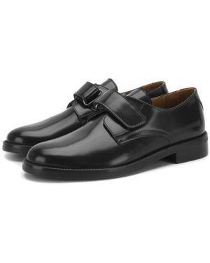 Туфли черные кожаные Beberlis