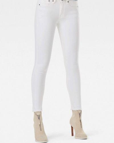 Белые джинсы-скинни узкого кроя G-star