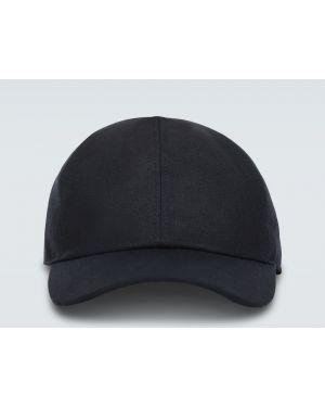 Кожаная бейсбольная синяя шляпа классическая с подкладкой Loro Piana
