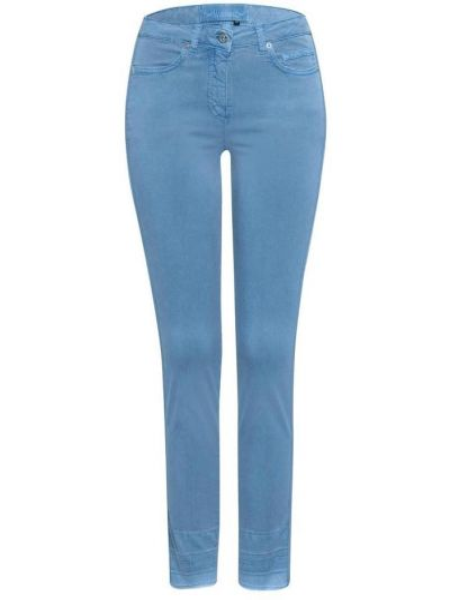 Niebieskie jeansy slim Marc Aurel