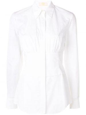 Приталенная хлопковая белая рубашка Sara Battaglia