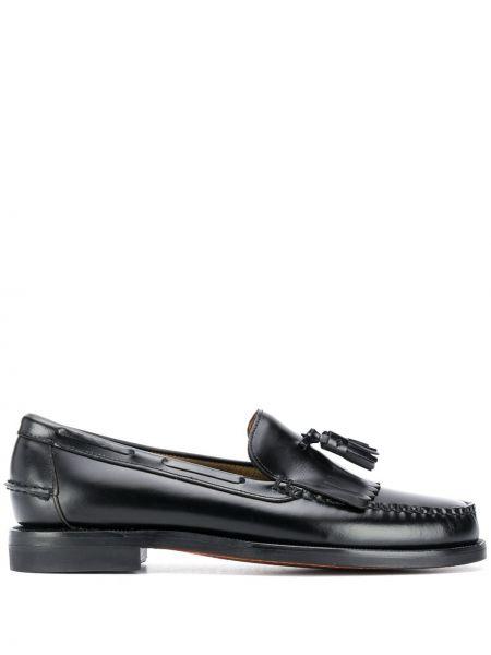 Loafers na obcasie - czarne Sebago