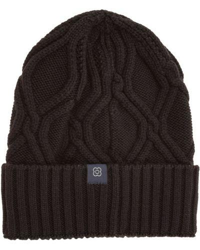 Czarna czapka Lardini