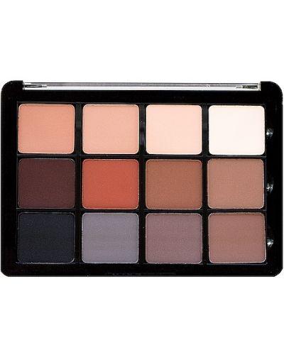 Кожаная коричневая палитра для макияжа матовая Viseart