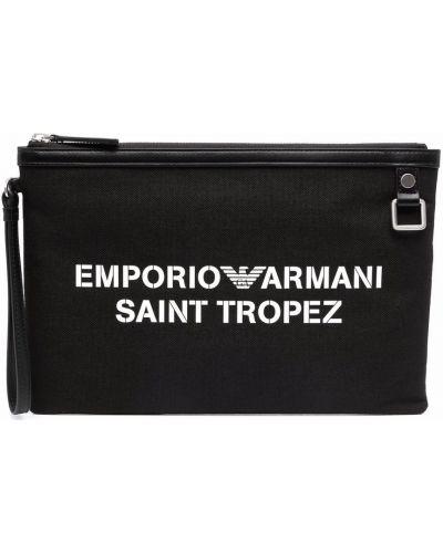 Torebka z printem - biała Emporio Armani