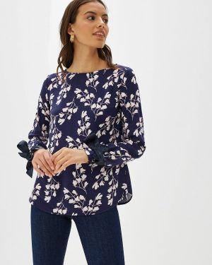 Блузка с длинным рукавом синяя весенний Vilatte