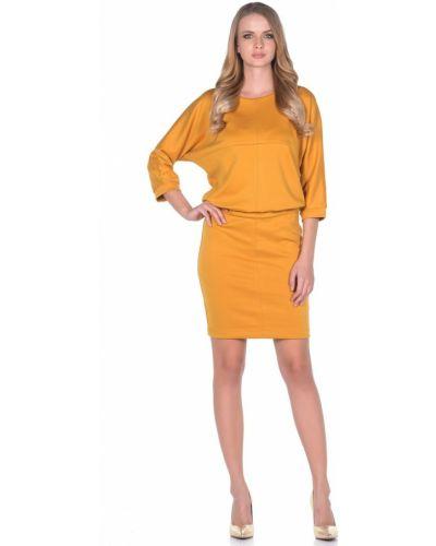 С рукавами трикотажное платье с вырезом Rosa Blanco