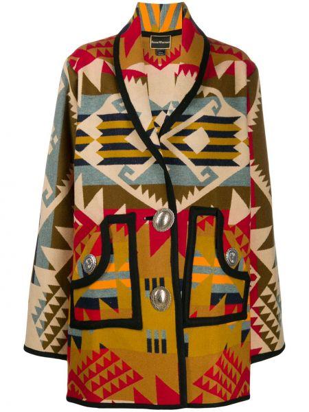 Свободное шерстяное пальто оверсайз на пуговицах Jessie Western
