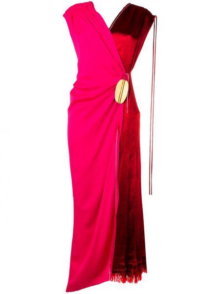 Приталенное платье с запахом с бахромой с драпировкой Marni