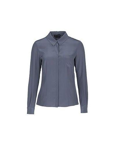 Серая блузка приталенная Luisa Spagnoli