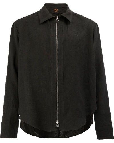 Черная льняная рубашка L'eclaireur