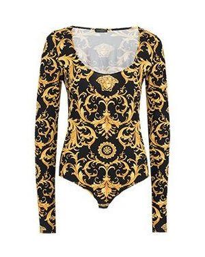 Черное боди Versace