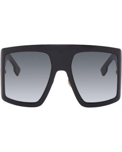 Черные солнцезащитные очки прозрачные квадратные Dior