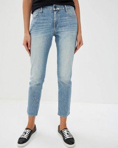 Голубые джинсы бойфренды True Religion