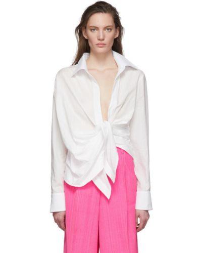 Рубашка с воротником с манжетами с нашивками Jacquemus