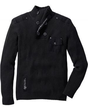 Пуловер с воротником на пуговицах Bonprix